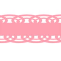 装飾ライン素材ピンク色のリボンレース