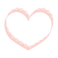 ハートフレーム薄ピンク