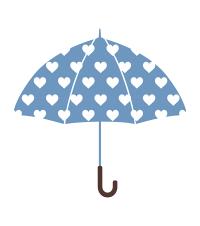 傘イラスト素材水色