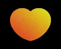 透明オレンジ黄色