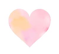 水彩風のフリー素材 ピンク色に黄色が混じった淡い色調