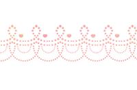 点々装飾ライン黄ピンク