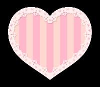 ピンクしましまハート