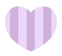 しましま紫のハート