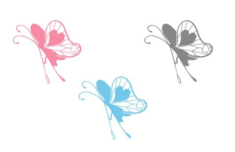 蝶のイラストフリー素材