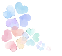 水彩風四つ葉のクローバー淡い色合い