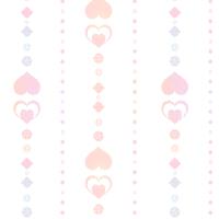 シームレスパターン素材 透過背景にピンク色の装飾ライン