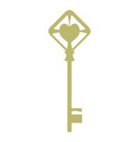 ハートモチーフの鍵イラスト02