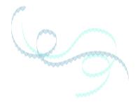 流れるリボンのようなハートラインブルー