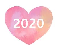2020白文字ピンクハート