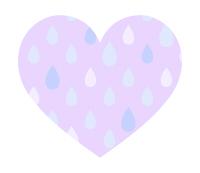 雨粒模様ハート紫小粒
