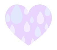 雨粒模様ハート紫大粒