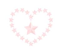 ピンク一つ星イラスト