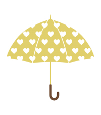 傘イラスト素材黄色