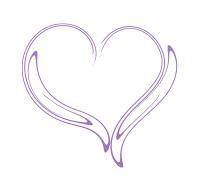 ゆがんだ線の紫色ハート