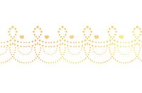 点々装飾ライン黄色