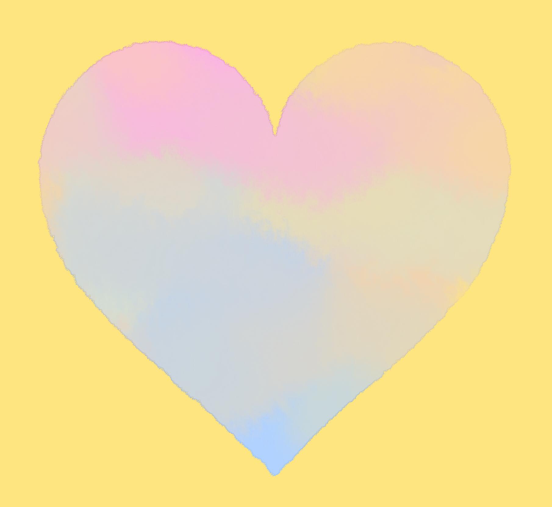 水彩風Heart素材のサンプル
