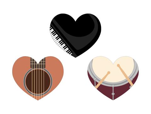 楽器イラストのハートマーク