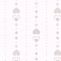 シームレスパターン素材 白背景に薄茶色のハートライン