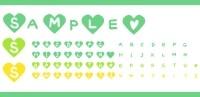 サムネイル見出し480アルファベットハート素材グリーン系