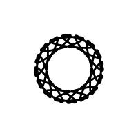 白黒装飾円