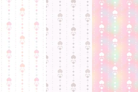 シームレスパターン素材 ハートの縦ライン壁紙
