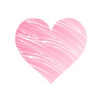 斜め模様ハートピンクから白のグラデーション