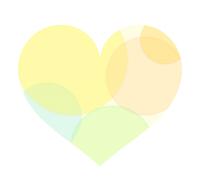 半透明黄色ハート