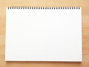 白いスケッチブック