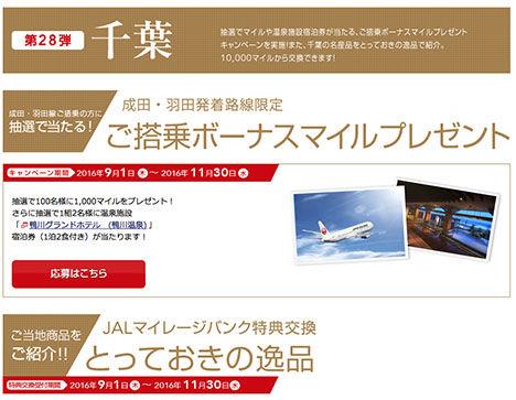 JALは、成田・羽田発着路線限定で搭乗ボーナスマイルキャンペーンを開催!ホテル宿泊券プレゼントも!