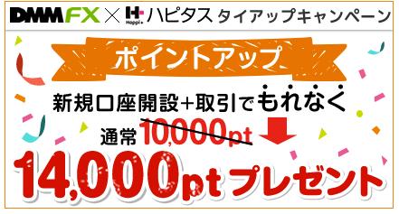 【ハピタス】「DMM FX」新規口座開設&取引で14,000円(12,600ANAマイル)獲得案件
