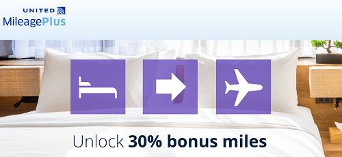 ホテルポイントをユナイテッド航空のマイルに移行すると30%ボーナス!キャンペーンは11月30日まで。