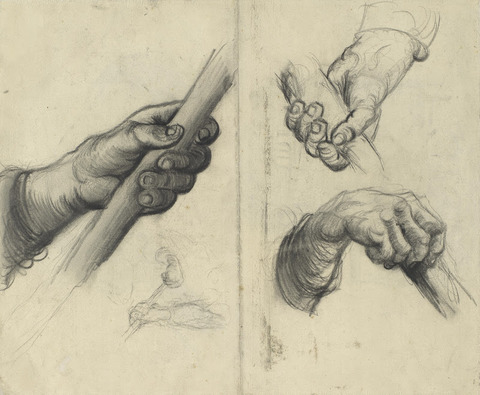 棒をもつて手(デッサン)vangoghmuseum-d0390V1962v-800