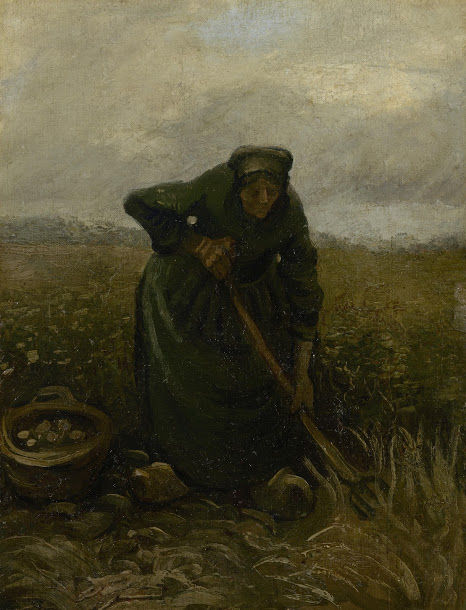 ジャガイモを掘り出す女性vangoghmuseum-s0452S1995-800