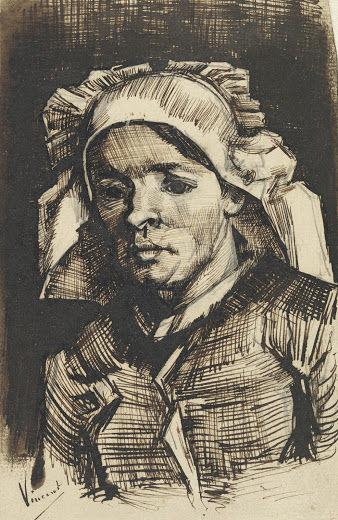 頭巾をかぶった女性vangoghmuseum-d0267V1971-800