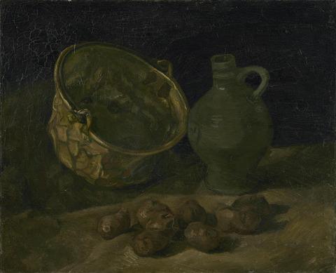 真鍮の大釜と水差しの静物vangoghmuseum-s0052V1962-800
