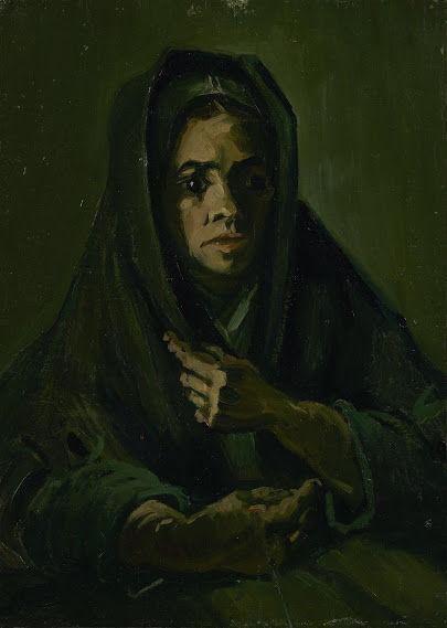 喪服のショールをかぶった女性vangoghmuseum-s0058V1962-800