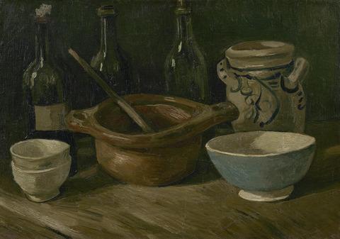 陶器と瓶のある静物vangoghmuseum-s0138V1962-800
