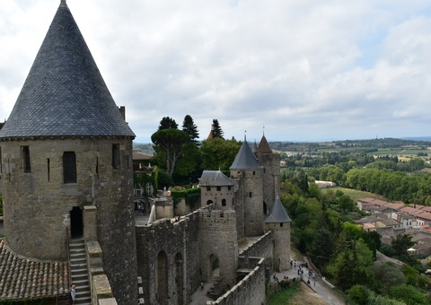 コンタル城からの眺め