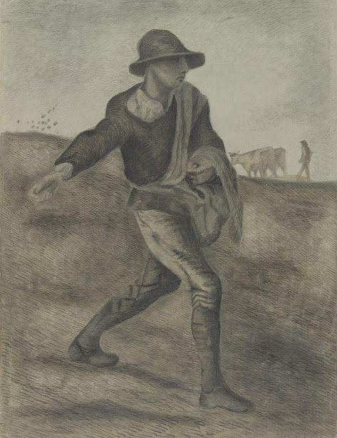 種まく人(ミレーを模して)vangoghmuseum-d0443V1962-800