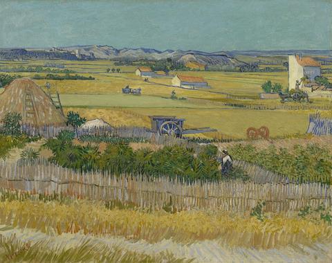クロー平野の収穫vangoghmuseum-s0030V1962-800