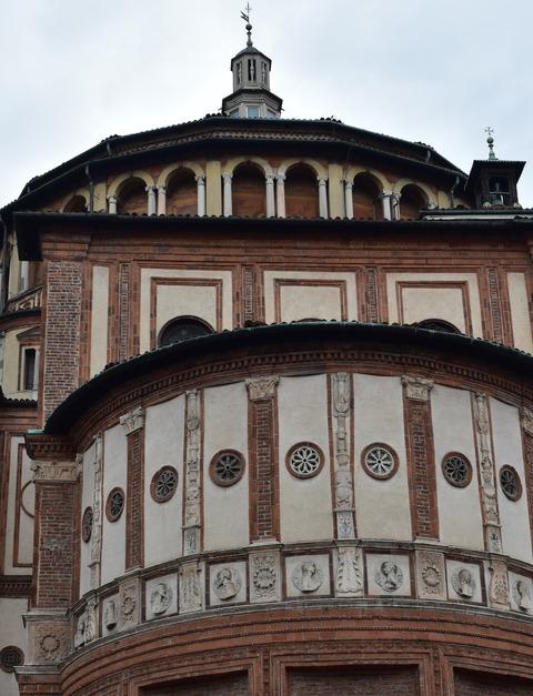 サンタマリア・デッレ・グラッィエ教会裏側