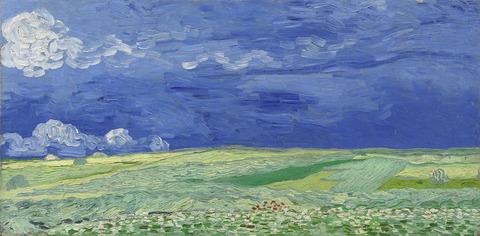 荒れ模様の空の麦畑vangoghmuseum-s0106V1962-800