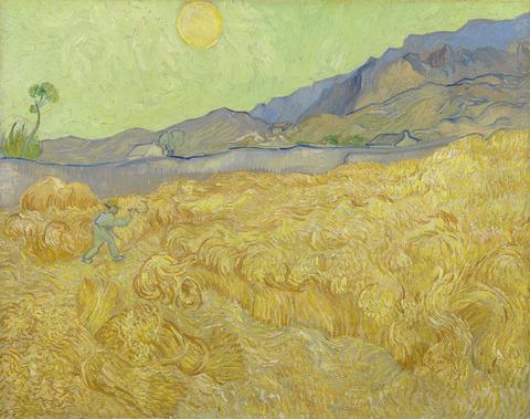 刈り人のいる日の出の麦畑vangoghmuseum-s0049V1962-800
