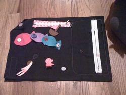 ジッパー好きの我が子に布のおもちゃ作ったよ!