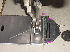 縫い線なしで縫い代1cmをミシンで縫うには?