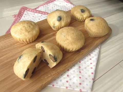 黒豆蒸しパン