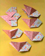 Hobby : 折り紙 : 紙 入れ物 折り方 : 折り方