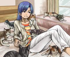 千早と猫達