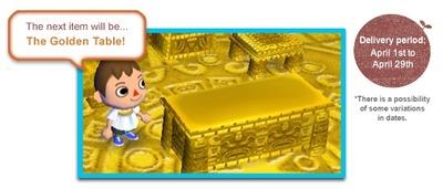 北米: golden table